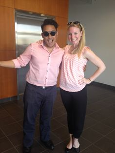 A couple of our staff members were matching and looked very pretty in pink today. #springcolor #pink