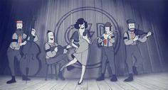 Caravan Palace is the quintessential Dieselpunk band. So check them out, I'm addicted.