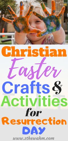 Kids Christian Easter Crafts & Activities for Resurrection Day Easter Craft Activities, Easy Preschool Crafts, Easter Crafts, Easter Ideas, Diy Crafts, Holiday Crafts For Kids, Crafts For Kids To Make, Holiday Fun, Christian Easter