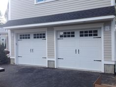 @C.H.I. Overhead Doors Model 5916 Long Panel, In White With Stockton Glass.  Installed