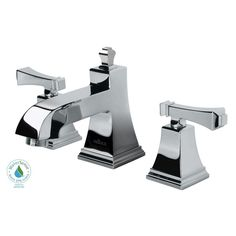 The Exhibit Widespread Low-Arc Bathroom Faucet boasts an elegant square design that is perfectly suited for transitional  decor. WaterSense certified with a 1.5 GPM flow rate for efficiency, this high-performance faucet features durable ceramic disc valves for drip-free performance.
