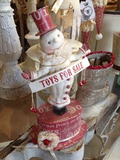 Dee Foust Collection Toys for Sale Snowman by BurlapandBees, $39.00