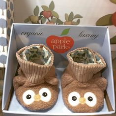 Cutest booties walking around! 3-9months #booties #cuteness #organic #organiclife #owls #giftideas #loveorganic #lovemums #love #organictoys #onefinedaybaby #melbourne #sydney #perth #brisbane #adelaide #applepark #australia appleparkaust