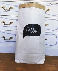 Paperbag - Des jolis sacs de rangement en papier kraft - motif bulle : Meubles et rangements par suite-creative-babies
