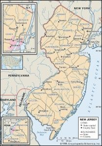NJ county 209x300 Maps of New Jersey