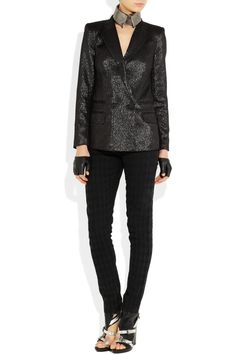 KARL jela metallic-flecked twill jacket