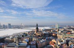 Man Made Riga  Bridge Architecture Latvia Sky River Wallpaper