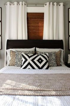 Home Decoration Tips Lovely guest bedroom.Home Decoration Tips Lovely guest bedroom Living Room Blinds, Bedroom Blinds, Diy Blinds, House Blinds, Bedroom Windows, Home Bedroom, Bedroom Decor, Patio Blinds, Window Blinds