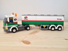 NEW LEGO 3180 CUSTOM DARK RED OCTAN TANKER TRUCK CITY//TOWN
