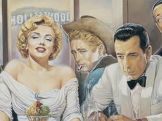 from the great Italian Artist Renato Casaro.. Marilyn, Dean, and Bogie