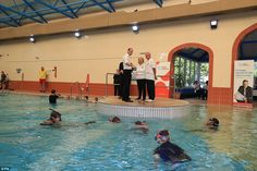 Fancy a dip? William gets a live demonstration from swimmersduring his visit to the Merseyside Sub-Aqua Club at the Guinea Gap Leisure Centre -his role as patron of three organisations the British Sub-Aqua Club (BSAC), English Schools Swimming Association (ESSA) and Swim England