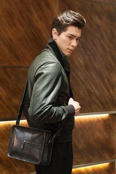 #berluti Small Bags, Shoulder Bags, Bomber Jacket, Jackets, Fashion, Down Jackets, Moda, Small Sized Bags, Fashion Styles