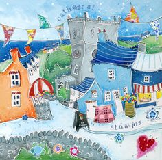Pembrokeshire - Susie Grindey Cute Paintings, Coastal Style, Welsh, More Fun, Puzzles, Pond, Arts And Crafts, Cottage, Artists