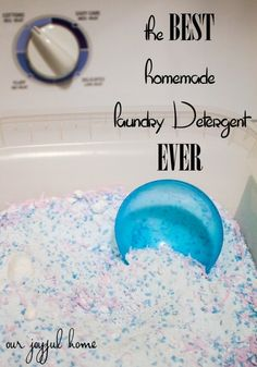 The Best Homemade Laundry Detergent EVER! | Our Joyful Home