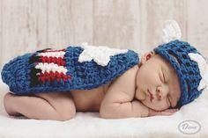 Crochet Newborn Captain America Super Hero by CrochetCreationsbyMa