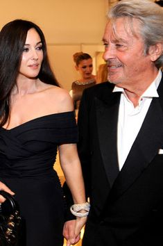 Моника Беллуччи и Ален Делон. Фото / Monica Bellucci and Alain Delon photo