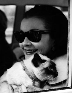 Vivien Leigh 1963, star of gone with the wind and cat lover.