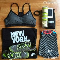 Today's #FITOutfit is by @starbax_  @nikewomen sports bra, shirt & pro shorts @nikerunning shoes @nike fuel band @bodybuildingcom wrist wraps #blenderbottle  Want to submit a photo?  Tag @FITOutfit & use hashtag #FITOutfit in your post.  We like clean & CLEAR photos (apparel only)! Leave comments -- like us -- tag us!  Go to www.fit-outfit.tumblr.com to find items featured!
