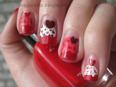 MaD Manis: Valentines Cupcakes  #nailart