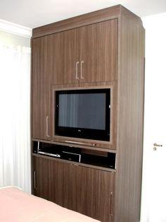 guarda roupa com tv apartamento - Pesquisa Google