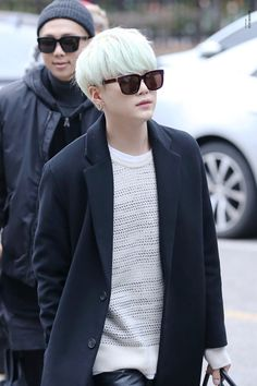 Yoongi(Suga) and Namjoon(Rap Monster) with sunglasses ♥♥♥♥♥♥