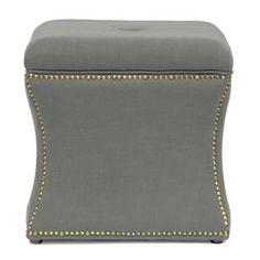 Baxton Studio Shrewsbury Linen Modern Ottoman   Overstock.com Shopping - The Best Deals on Ottomans