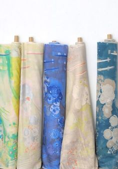 Can't get enough of Japanese fabrics. These are by Nani-Iro. Come fabric shopping in Japan with me at http://www.sewinlove.com.au/2015/12/24/video-fabric-shopping-tokyo-nippori-textile-town/