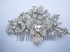 Large crystal bridal hair combwedding hair by Amoretto on Etsy, $59.00