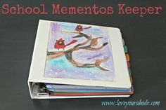 It's that time of the year where kids are bringing home so many school papers and keepsakes, here's a great way to keep them all organized