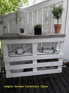 Deck Bar – Outdoor Diy Pallet Furniture Ideas – diy pallet creations - New ideas