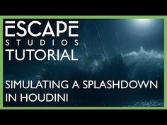 Simulating a Splashdown in Houdini - Escape Studios Free Tutorial - YouTube