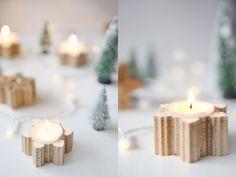 DIY-Idee: Weihnachtliche Beton-Teelichter selbstgemacht