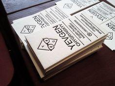 The Beauty of Letterpress: Business cards for Evgen Chygrynsky