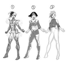 Hey all. A little help! Which of these do you prefer and if you have time why? Her name is Neomi Soon part of an ancient race of cyborgs in the far future. She's a smart ass. Seen it all. Strong. Wise. A warrior in a past life now a diplomat that has to get her hands dirty again. And GO! . .  Using @procreateapp and #ipadpro & #applepencil #characterdesign #procreateapp #process #wip #procreate #procreateartist #comicbooks #comicbookartist #manga #mangadrawing #mangaart #art #ink…
