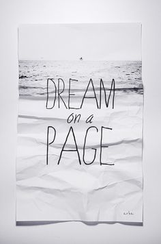 #24 Dream on a page!