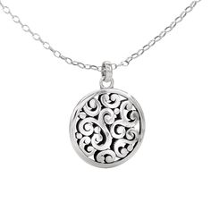 Brighton swirl long necklace products i love pinterest long contemporary silver pendant mozeypictures Images