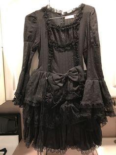 GORGEOUS Black Gothic Lolita Lace Layered COSPLAY Dress Costume Acting Fashion    eBay