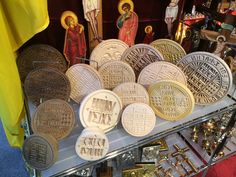 Communion, Hand Carved, Stamps, Religion, Cookie, Greek, Icons, Heart, Handmade