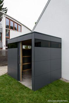 Design Gartenhaus @_gart @_wood in München by design@garten - Augsburg, Germany UV-beständig - niemals streichen! #Gartenhaus #Gerätehaus #HPL #design@garten