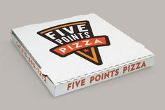 five points pizza restaurant branding.