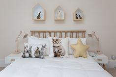 Scandinavian bedroom decor for little girl's nursery