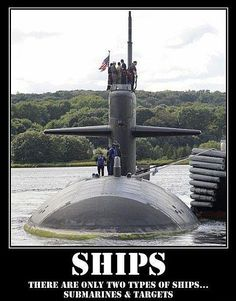 military-humor-funny-joke-navy-two-types-of-ships-submarines-and-targets