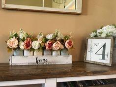 Vases, Mason Jar Centerpieces, Rustic Centerpieces, Happy Jar, Rustic Wall Decor, Farmhouse Decor, Coastal Decor, Entryway Decor, Quart Size Mason Jars