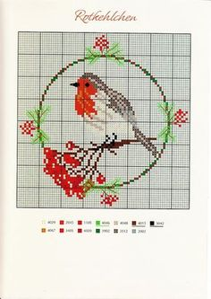 ru / Фото - 24 - Viki-Kitti - another pattern for bird lovers! Xmas Cross Stitch, Just Cross Stitch, Cross Stitch Cards, Beaded Cross Stitch, Crochet Cross, Cross Stitch Animals, Cross Stitching, Cross Stitch Embroidery, Cross Stitch Designs