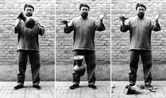 Ai Weiwei (1995) Dropping a Han Dynasty Urn  This triptych features the artist dropping a Han Dynasty vase (206 BC - 220 AD) in three photographs.