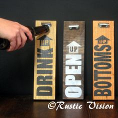Beer Sign Bottle Opener via Etsy