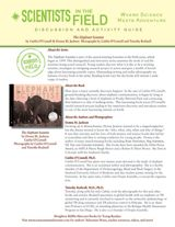The Elephant Scientist Discussion & Activity Guide with Common Core Connections (Grades 5-8) https://www.teachervision.com/nonfiction/printable/74990.html #animals #biology #nonfiction