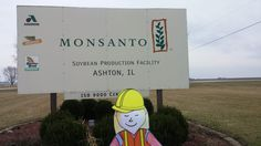 Flat Aggie Visits Monsanto –