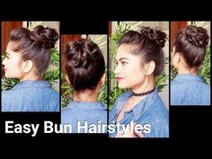 2 QUICK & Easy Buns With BUNSTICK//Indian Hairstyles For Medium/long Hair