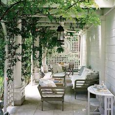The perfect place for afternoon tea and a book?